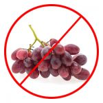 Grapes are bad for dogs
